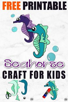 Looking for your next ocean theme preschool craft? Use our free printable seahorse template to make this fun ocean themed arts and craft project. You can even name him Mister Seahorse if you would like! This sea creature is especially fun to make with toddlers and kindergarten age kids too! #seahorse #seahorsecrafts #oceananimals #oceananimalcrafts #SimpleMomProject Ocean Theme Crafts, Ocean Animal Crafts, Animal Crafts For Kids, Toddler Crafts, Preschool Crafts, Printable Crafts, Templates Printable Free, Sea Creatures Crafts, Seahorse Crafts