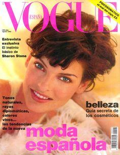 Linda Evangelista by Patrick Demarchelier Vogue España August 1992