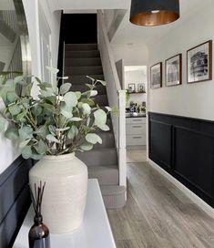 Hallway Decorating, Interior Decorating, Interior Design, Interior Ideas, Stair Paneling, Wall Panelling, Paneling Walls, Living Room Panelling, Hallway Inspiration