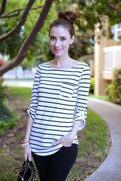 Mara in the SWELL striped top. http://www.swell.com/SWELL-ATLANTIC-STRIPED-POCKET-34-SLEEVE-TEE