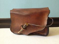 Handmade Leather Hip Bag // Belt Pouch.