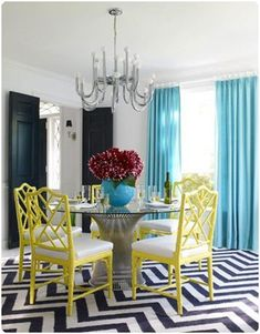 Breathtaking Colorful Dining Room for The Bright Color Fans : Colorful Dining Room LaurieFlower 035