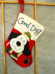 we have 2 dogs that are a part of our family.  They each have their own stocking. #butterball