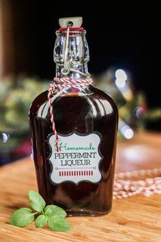 homemade peppermint liqueur how to make a naturally flavored homemade ...