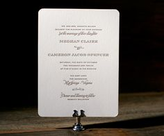Both classic and vintage chic, Ashwell is a letterpress wedding invitation with contemporary updates on traditional design.