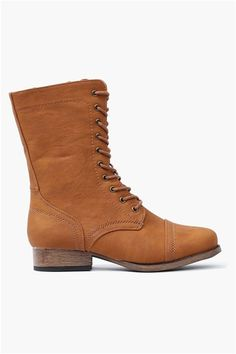 Whiskey Lace Up Boots
