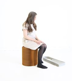 wool felt tote + paper softseating by molo