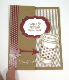 Step by step how to make a card coffee lovers will flip over! by Cindy Beach  stampspaperandink.typepad.com