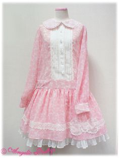 Going Out Ribbon Chiffon OP in Pink 2011