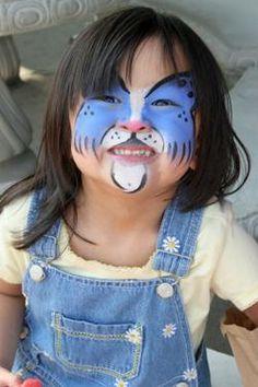 Homemade Face Paint:•3 tbsp. cornstarch   •1 tbsp. flour   •3/4 cup Karo light corn syrup   •1/4 cup water   •1/2 tsp liquid food coloring