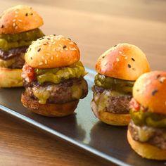 Mini burger appetizers