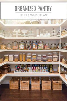 Organized Pantry | Honey We're Home #organizedpantry #organization #pantry