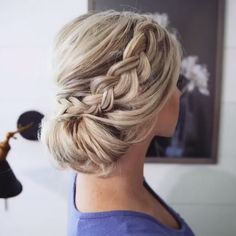 5 Awesome Cool Ideas: Cornrows Hairstyles For Teens messy hairstyles grunge.Bun Hairstyles With Gajra wedding hairstyles retro.Asymmetrical Hairstyles With Fringe. Braided Bun Hairstyles, Easy Hairstyles For Long Hair, Down Hairstyles, Bun Updo, Braided Updo, Elegant Hairstyles, Wedding Hairstyles, Hairstyles For Nurses, Updo Hairstyles For Prom