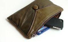 upcycled leather jacket clutch