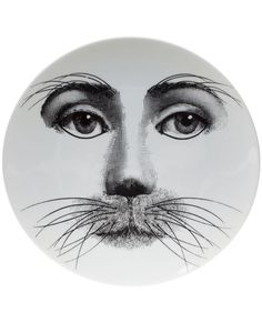 Fornasetti Whisker Print Plate - L'eclaireur - Farfetch.com