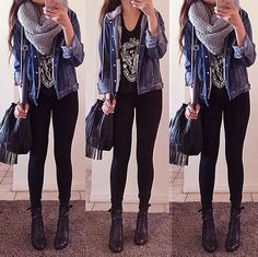 Edgy and perfect for winter! #fashion #edgy