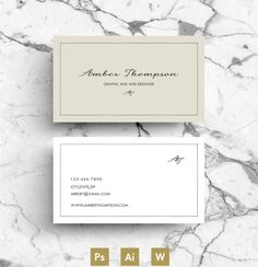 Business Card / Template / CV by Emily's ART Boutique on Creative Market