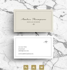Business Card / Template / CV