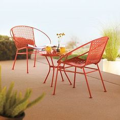 SONOMA outdoors 3-pc. Carolina Bistro Set    Love it. Would repaint, though.