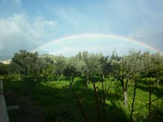 Rainbow on the land, Roccella Ionica Calabria