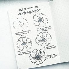 How to draw an anemone flower! I'm taking requests for future #FlowerFriday tutorials. Comment below! .  .  .  @inkbyjeng will be posting her tutorial tomorrow.. can't wait to see it!