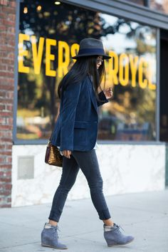 The Corduroy Blazer + Brynn Chukka Boots on Walk in Wonderland! @walkinwondrland