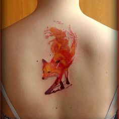 fox tattoo - 45 Awesome Cool Tattoos  <3 <3