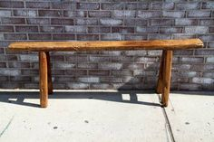wooden bench for plants