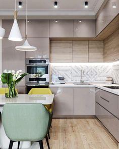 30 Modern Kitchen Interior Ideas To Inspire You Kitchen Cabinets Upper Idea Kitchen Room Design, Modern Kitchen Design, Home Decor Kitchen, Interior Design Kitchen, Home Kitchens, Kitchen Living, Kitchen Ideas, Kitchen Inspiration, Diy Kitchen