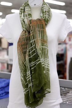 Green Patterned Scarf (available in only in stores) Click image for weekly ad