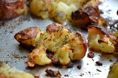 CRISPY SMASHED POTATOES - Rachel Schultz