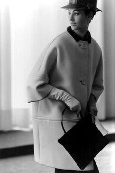 Coat by Balenciaga. Photo: Tom Kublin, 1961.