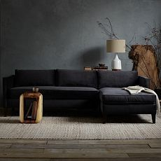 Dunham Down-Filled Sectional - Box Cushion