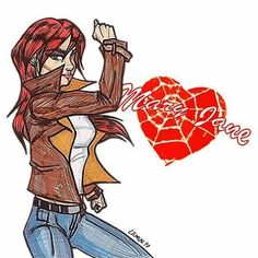 Mary Jane Watson. #MarvelComics #MaryJaneWatson #MJ #maryjane #actress #supermodel #bussineslady #girlnextdoor #spideysgirl #thewake #faceittiger #sheisnotjackpot #powerless #powerfulwomen #womenspower