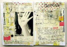 live with passion art journal layout
