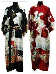 3678c6be00 Chinese Women s silk satin long style Kimono Robe Gown sleepwear Bathrobe  Kimono  fashion  clothing