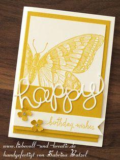 Glückwunschkarte Swallowtail von Stampin'Up