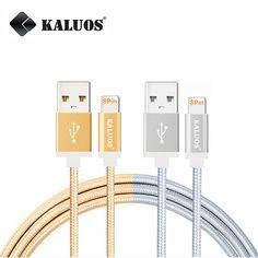 Kaluos 20 센치메터 1 메터 1.5 메터 2 메터 핀 usb 충전 데이터 동기화 케이블 iphone 5 5 초 6 6 초 7 플러스 ipad 4 mini 2 air 2 ios10 빠른 충전 케이블