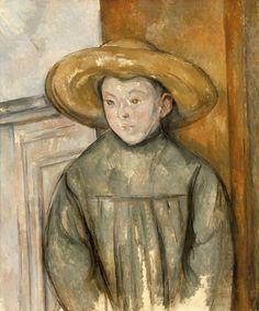 Paul Cézanne – Boy With a Straw Hat (L'Enfant au Chapeau de Paille), 1896 | LACMA Collections
