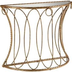 Showcasing a mirrored top and an elegant bronzed base, this glamorous console table is the perfect addition to your entryway or den.