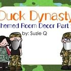 This is the second part of the two part set.  It is fun and your kiddos are sure to love it.  It is Duck Dynasty themed.  It includes the following...