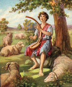 Kid's Bible Story of David the Shepherd Boy Psalm 133, Bible Stories For Kids, Bible For Kids, Praying The Psalms, David Bible, Sermon Illustrations, Story Of David, La Sainte Bible, Image Jesus