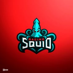 Raging Squid Mascot Logo by Derrick Stratton Logo Gaming, Gfx Design, Graphic Design, Logo Process, Water Logo, Esports Logo, Sports Team Logos, E Sport, Bold Logo