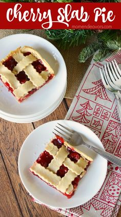 A delicious cherry slab pie recipe – for an easier way to serve up pie for parties or holidays. MMmmmmm! Cherry pie! It's one of my very favorites! Regular pie, hand pies, slab pie &#82…