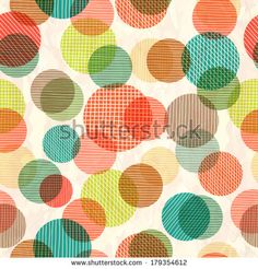 Retro seamless pattern with circles - stock vector