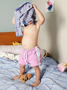 Helping toddlers learn to dress themselves, Z's getting the hang of it but it couldn't hurt!