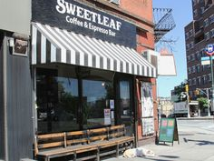 """Sweetleaf (Queens, NYC).    There's the Rocket Fuel, cold brew spiked with chicory, maple syrup, and milk, and the Voodoo Child, a Vietnamese-style iced coffee made with sweetened condensed milk. Sweetleaf is also a great place to hang out for a while. There's free wifi up front, and a """"record room,"""" with a turntable and an extensive vinyl collection in the back."""