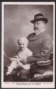 King Edward VII with his grandson Crown Prince Olaf of Norway (later The King of Norway).