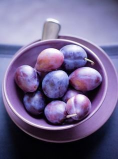 VIOLET Royale. Violet. Purple. Plums. Matching Bowl and Plate. #ghdcandy #violet