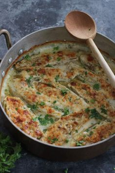 baked until bubbly and golden braised endive with ham and gruyère ...